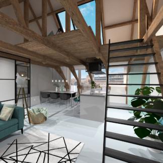 visualisaties verbouwing en interieurontwerp woning